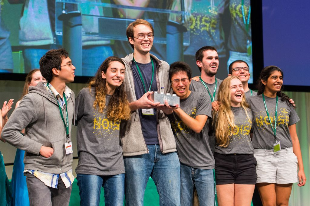 The Grand Prize for the Undergraduate Category went to 'William and Mary' team for their 'Noise' Project. (Credit: iGem Foundation & Justin Knight)