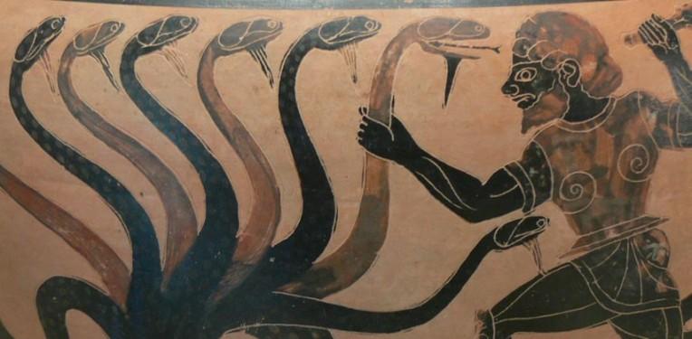 """""""Lernaean Hydra Getty Villa 83.AE.346"""" by Wolfgang Sauber"""