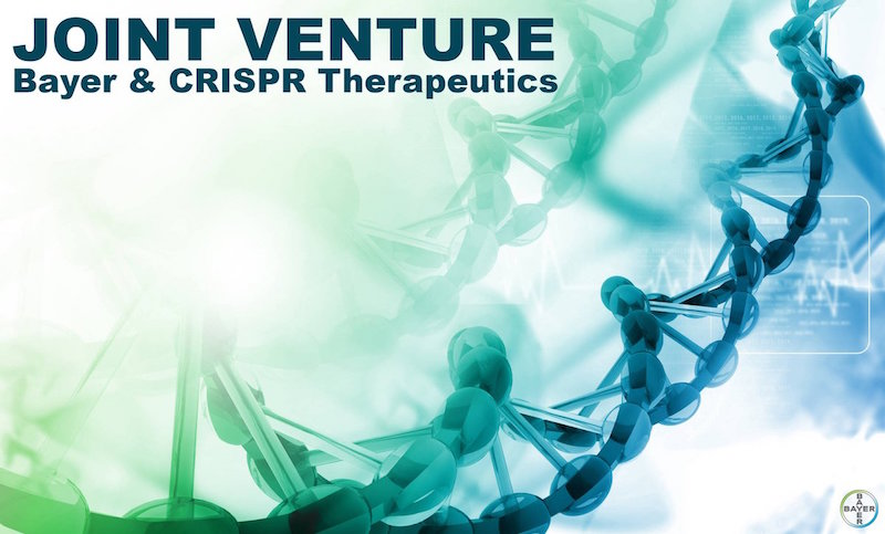 Figure 1. Bayer just announced its new joint venture with CRISPR therapeutics.