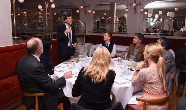Andre Choulika, Cellectis' CEO, hosting the dinner