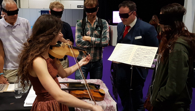 Luca Alessandrini silk violin blind test
