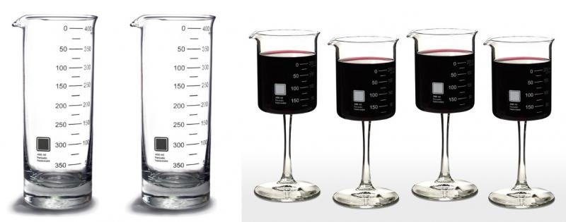 beaker glasses biotech gifts