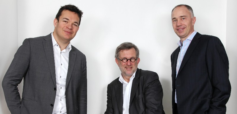 The team behind Sofinnova Industrial Biotech: Michael Krel (left, Denis Lucquin (center) and Joško Bobanović (right)