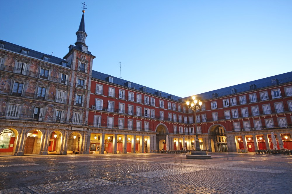 Spain emerging early biotech Plaza Mayor in Madrid