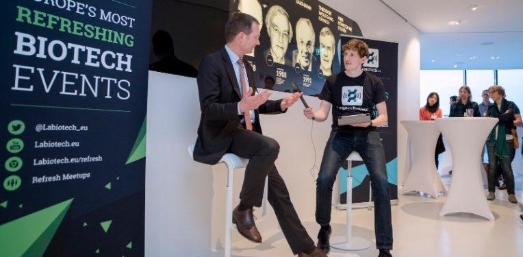 Stefan Weber CEO Newron Pharmaceuticals Labiotech Meetup Munich