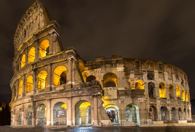 The Colosseum in Rome, Italy's capital.