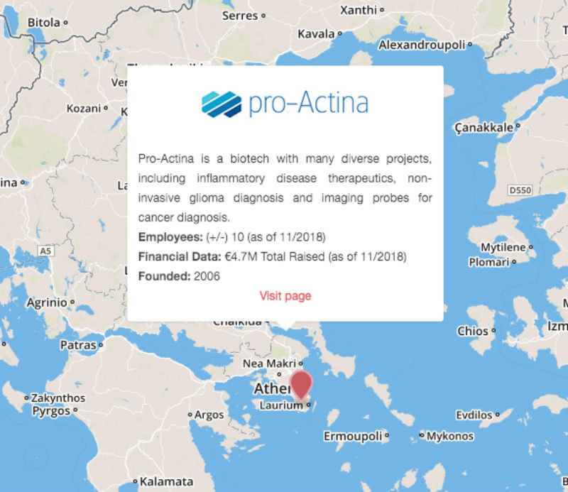 Proactina greece map brain cancer